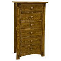 "24"" Amish Craftsman Pine 6-Drawer Dresser"