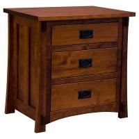 Amish Craftsman 3-Drawer Nightstand
