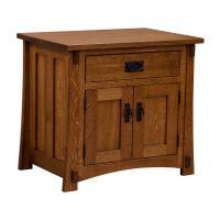 "28"" Amish Craftsman 1-Drawer/ 2-Door Nighstand"