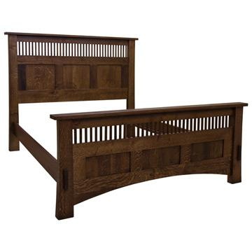 Amish Mission Dutch Spindle / Panel Bed