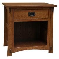 Amish Craftsman One Drawer Nightstand w/ Opening