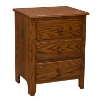 3 Drawer Shaker Nightstand