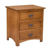 Mission 3 Drawer Night Stand