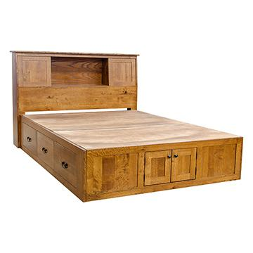 Mission Chest Bed w/ Bookcase Headboard