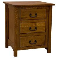 "22"" Amish Mission 3-Drawer Nighstand"
