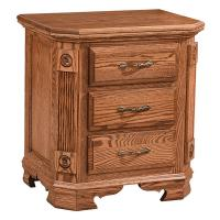 Southerndeluxe 3Drawer Nightstand