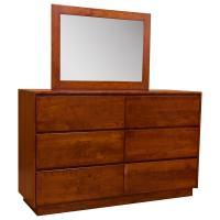 "60"" Amish Contemporary Canterbury Dresser w/Mirror"