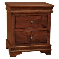 Traditional Amish Lux 2-Drawer Nightstand