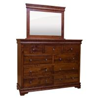 Amish Traditional Lux 9-Drawer Dresser w/ Mirror