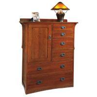 Arts & Crafts Chesser Oak Armoire
