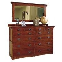 Arts & Crafts 12 Drawer Oak Mule Chest Dresser