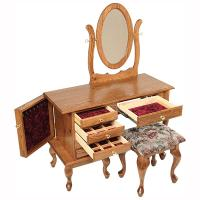 "42"" Queen Anne Jewelry Dressing Table"