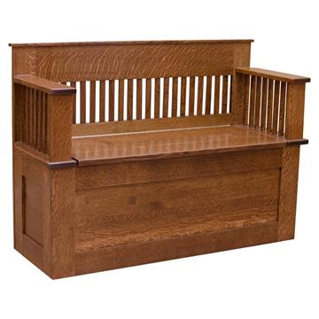 Mission Hope Chest with Back