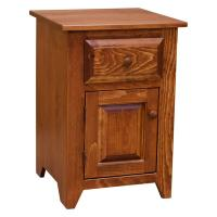 """18"""" Folks One Drawer One Door Pine Night Stand"""