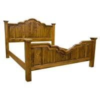 Amish Wavey Cathedral Pine Bed