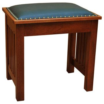 """21"""" x 20"""" Amish Mission Leather Bench"""