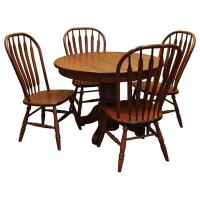 """42"""" Round Amish Traditional Dining Set-4"""