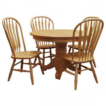 "44"" Round Traditional Dining Table Set 4"
