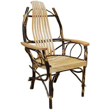 Natural Amish Hickory Arm Chair