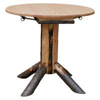 Hickory Small Round Dining Table - Drop Leaf