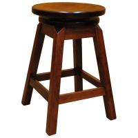"30"" Amish Swivel Stool- Square Legs"