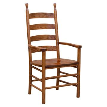 Arm Ladderback Chair   Dining Chairs   Barn Furniture   Craftsman Furniture  Made In USA