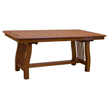 Diamond Mission Solid Oak Dining Table