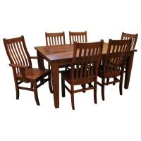 Amish Frontier Dining Set 6 w/ 4-Leaves