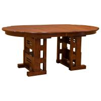 "44"" x 72"" Greene & Greene Gamble Table w/ 4-Leaves"