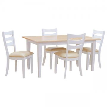 "36"" x 60"" Two Tone Harvest Shaker Dining Set"