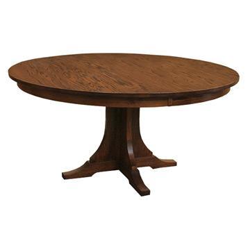 Amish Mission 60 Inch Round Dining Table With Leaf Dining Tables