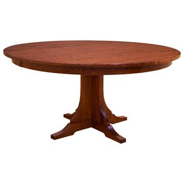 """Amish Mission 60"""" Round Dining Table"""