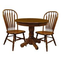 "42"" 3-pc Traditional Round Table-Set 1"