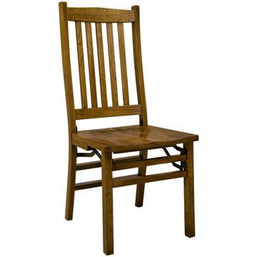 Amish Mission Folding Wood Seat Elm Chair