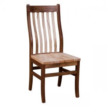 Rochester Side Chair- Walnut/Wormy Maple