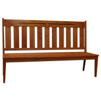 Amish Lilac Side Bench w/ Aspen In-Lay