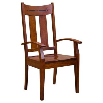Amish Lilac Arm Chair w/ Inlay