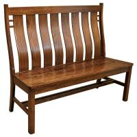 "52"" Amish Mission Bungalow Bench"