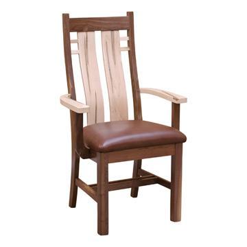 Bungalow Arm Chair -C Walnut/ Wormy Maple