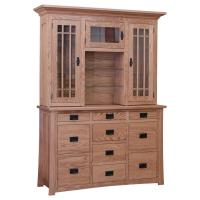 Amish Dutch China Cabinet- Red Oak
