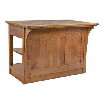 Mission Kitchen Island with Tile Top