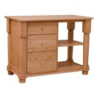 Red Oak Kitchen Island - Top and Base