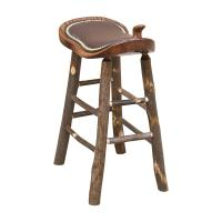"24"" Western Saddle Stool W/ Leather"