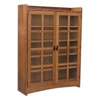 Mission Bookcase w/ Glass Doors