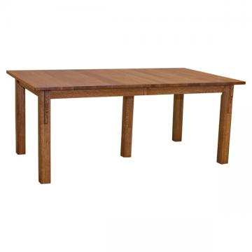"""42"""" Amish Mission Dining Table w/ 4-Leaves"""