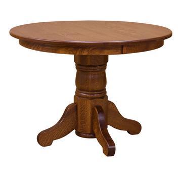 "42"" Round Pedestal Dining Table w/ Leaf"