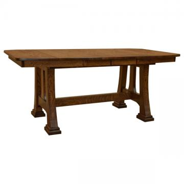 "42"" x 72"" Amish Talieson Dining Table w/ 4-Leaves"