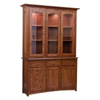 Traditional China Cabinet- Red Oak