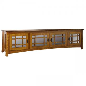"""96"""" Amish Craftsman Wide Screen TV Stand"""