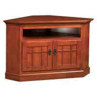 Mission Corner TV Stand w/ Opening